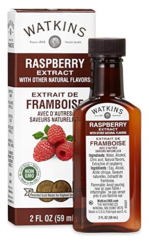 Watkins Raspberry Extract with Other Natural Flavors, 2 oz. Bottles, Pack of 6 (Packaging May Vary)