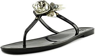 d3f081b68f6fd1 Tory Burch Blossom Jelly T-Strap Sandal in Black Spark Gold