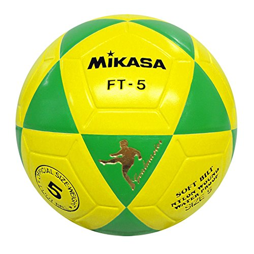 MIKASA Ft5, Pallone Footvolley Unisex – Adulto, Giallo/Verde, Taglia Unica