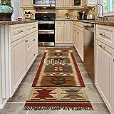 iinfinize - Alfombra de picnic tejida a mano, estilo vintage, de lana turca, de yute, para decoración del hogar, de Dhurri, de 2,5 x 8 pies