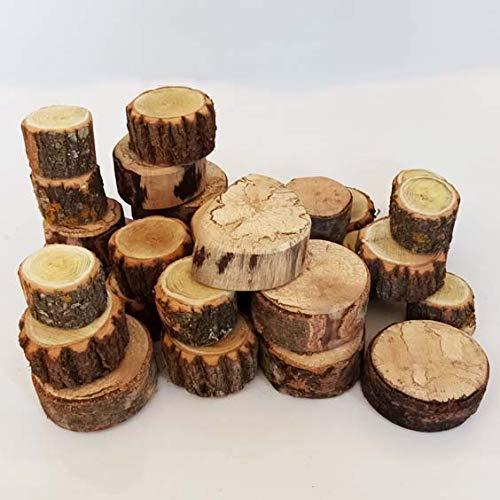 Troncos apilables de madera natural