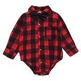 ROMPERINBOX Infant Flannel Buffalo Plaid Baby Shirt...