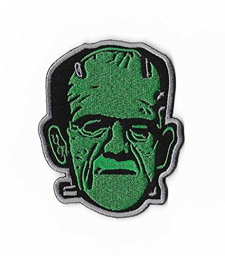 Frankenstein parche bordado para planchar / coser en la insignia DIY Apliques Boris Karloff Clásico de la película de terror de recuerdo, disfraz universal monstruos retro
