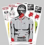 Zombie Paper Targets - 25 Pack - Full-Size 18' x 24' - Perfect for Rifle,...