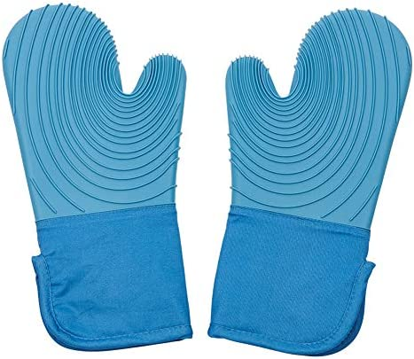 Silicone Oven Mitts 1 Pair Heat Resistant Oven Gloves Non Slip Cooking Gloves Kitchen Oven Gloves product image