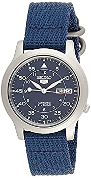 SEIKO Men s SNK807 SEIKO 5 Automatic Stainless Steel Watch with Blue Canvas Band