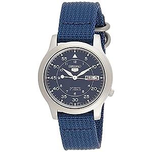 """[セイコーインポート] SEIKO import 腕時計 海外モデル メッシュベルト 自動巻き ミリタリー ネイビー SNK8..."""""""