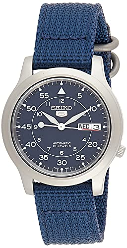 SEIKO Men's SNK807 SEIKO 5 Automatic Stainless Steel Watch with Blue...