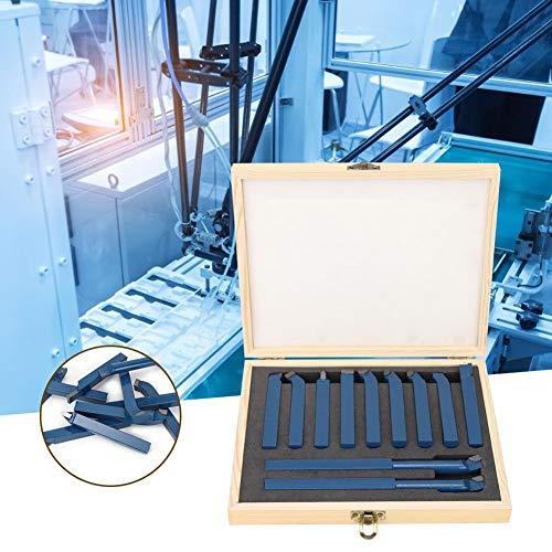Drehwerkzeug, 11pcs Mini Carbide Drehwerkzeug Set Schweißen Drehwerkzeug Werkzeugmaschinenteile(10x10mm)