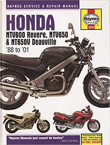 Honda Ntv600 Revere, Ntv650 and Nt650V Deauville Service and Repair Manual (Haynes Service and Repair Manuals)