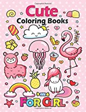 Cute Coloring Books for Girls: Unicorn, Sloth ,Animal and Mermaid Fun, Beautiful and Stress Relieving Unique Design