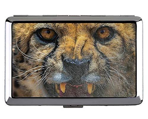 Yanteng Zoo Leopard Keep Business Cards 190618-006 - Tarjetas de Visita, Case5 (Plateado) - YT190618-1Acase-Q2-005