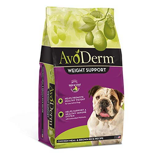 Avoderm Natural Weight Control Dry Dog Food, Brown Rice & Chicken Meal, 4-Pound