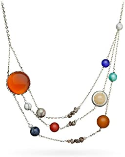 Solar Orbit Necklace Original: Brass Plated 21