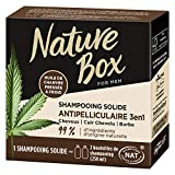 Nature Box – Shampooing Solide 3 en 1 Antipelliculaire Chanvre – Cheveux/ Cuir Chevelu / Barbe – 85g