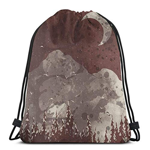 Winter Finds The Bear Drstring Backpack Gym Sack Pack Solid Cinch Pack Sinch Sack Sport String Bag