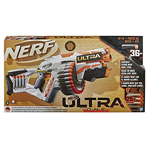 Nerf Ultra - One (Blaster Motorizzato, include 25 Dardi Nerf Ultra, Compatibile soltanto con i dardi Nerf Ultra)
