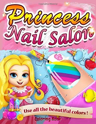 Princess Nail Salon: Coloring Book