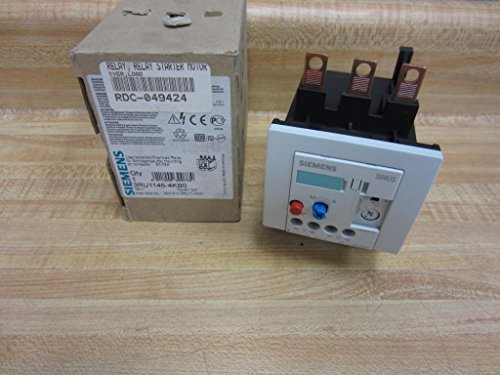 Siemens 3RU11 46-4KB0 Thermal Overload Relay, For Mounting Onto Contactor, Size S3, 57-75A Setting Range