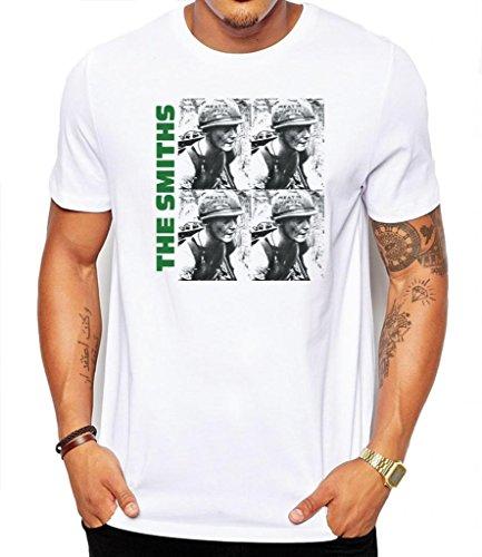 T-Shirt für Herren, Motiv: The Smiths Meat Is Murder Gr. X-Large, weiß