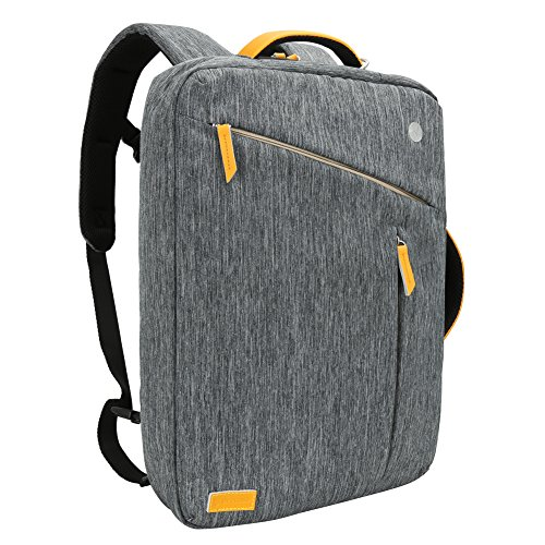 Laptop Backpack, Evecase Water Resistant Convertible Canvas Briefcase Messenger Backpack - fits up to 17.3-inch HP/Dell/Asus/Acer/Lenovo/Samsung/Toshiba/Apple MacBook Laptop - Gray
