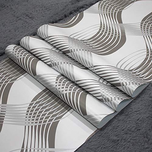 lsaiyy Papel Tapiz Dormitorio PVC Papel Pintado a Rayas Autoadhesivo Estudiante Dormitorio cálido Papel Tapiz - 45CMX10M