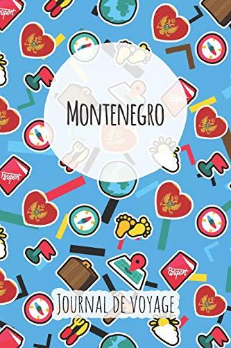 Journal de voyage Montenegro: Planificateur de voyage I Carnet de route I Carnet à grille à points I Carnet de voyage I Journal de voyage I Journal de poche I Cadeau pour le routard