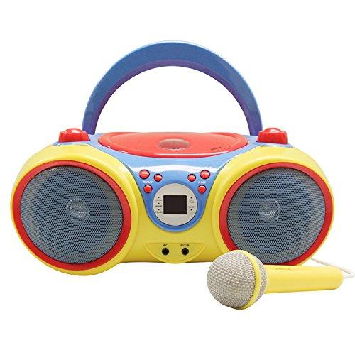 HamiltonBuhl HECKIDSCD30 Kids CD Player/Karaoke Machine with Microphone