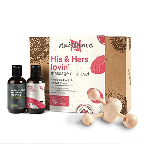 Naissance Coffret Cadeau Huiles de Massage Moment à Deux « His and Hers » - Sensuel et Romantique (2 x 100ml) avec outil de massage