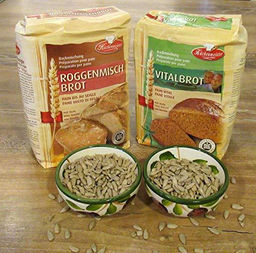 Leguana Handels GmbH 2-er Set Brotbackmischungen Vital- & Roggenmischbrot, für insgesamt 4x750g Brot, incl. Bio-Sonnenblumenkörner