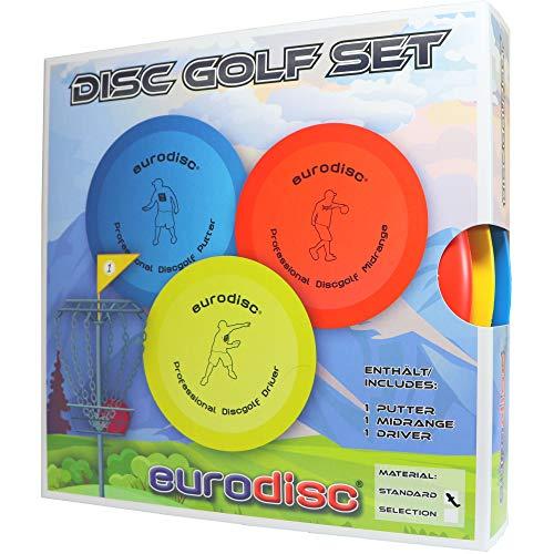 Eurodisc Disc Golf Einsteiger-Starterset SQU ROT Putter Midrange Driver PDGA approved