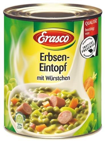Erasco Erbseneintopf mit Würstchen, 6er Pack (6 x 800 g Dose)
