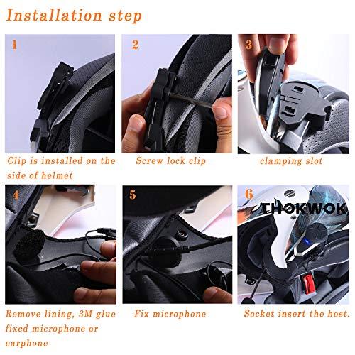 Product Image 4: THOKWOK Motorcycle Bluetooth Headset