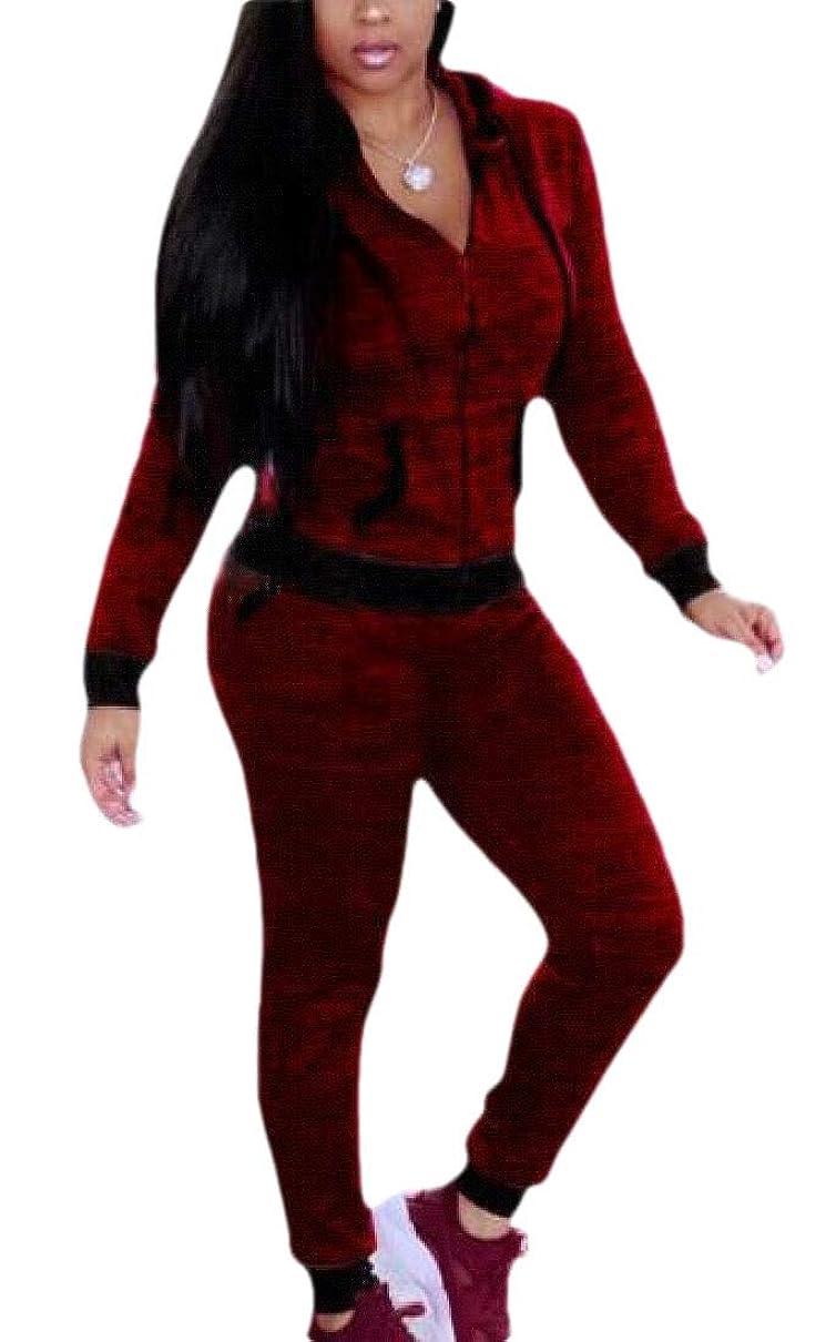 ファイターありがたい空港女性2ピーストラックスーツ長袖ジップアップジャケットとパンツジョギングスーツ