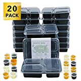 Meal Prep Containers with lids Three Compartment Lunch Box BPA-Free Reusable Microwavable Dishwasher Freezer...