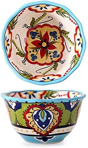 Cakunmik Profundo de Pintado Pintado Hecho a Mano, Ensalada de Frutas Bowl Creative Restaurante Creativo tazón de Fuente,C
