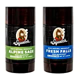Dr. Squatch Natural Deodorant for Men – Odor-Squatching Men's Deodorant Aluminum Free - Alpine Sage + Fresh Falls (2.65 oz, 2 Pack)