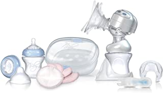 Nuby 67701 Dual Action Electric Breast Pump And Sterilizer Kit, Clear