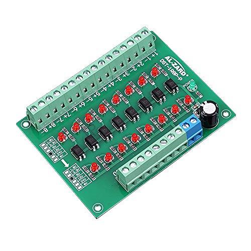 Icstation 12V to 5V 8 Channel Optocoupler Isolation Board Voltage Level Translator PNP Output PLC Signal Converter Module