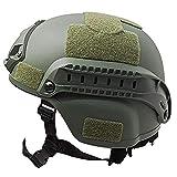 Combate Táctico Militar Casco De Airsoft Paintball Tactical Protector De Cabeza Ejército Cascos Gear Accesorios (Armygreen)