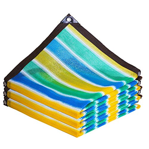 ZYM Shade Windschutz Mesh-Rechteck Garten Außen Überdachungen 90% UV-beständig Farben-Streifen for Garten-Haus Ställe Geflügel Gebäude Gewächshäuser (Size : 2 * 8m)