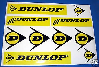 Dunlop retro rallye rennen auto motorrad aufkleber