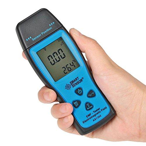 Konnon EMF Meter Handheld Electromagnetic Radiation Detector Digital LCD 0-2000mG Dosimeter Tester for The Home, Office Or Ghost Hunting, Handheld Digital Sensor