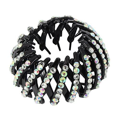 JUSTFOX - haarklem haargrijper met strass rond zwart