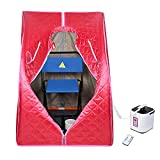 AW Portable Large Chair Red Personal Therapeutic Steam Sauna SPA Slim Detox Weight Reduce Home...