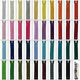 Cremalleras de 14 cm, 39 unidades, no divisibles, en 39 colores
