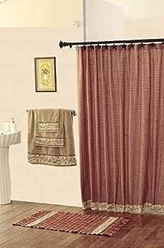 IHF Checker Berry Shower Curtain