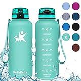 KollyKolla Botella Agua Sin BPA Deportes - 1.5L, Reutilizables Ecológica Tritan...