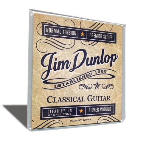Dunlop DPV102B Premiere Series Ball End Classical Guitar Strings, Normal Tension, .028-.043, 6 Strings/Set