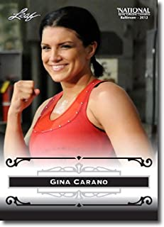 2012 Leaf HOF Baltimore National Sports Collector Promo #GC1 Gina Carano - Mixed Martial Arts/American Gladiators (Face of Women's MMA)(Collectible Trading Card)